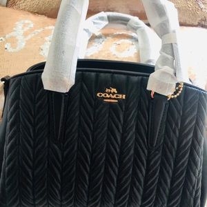 Coach mini sage quilting black